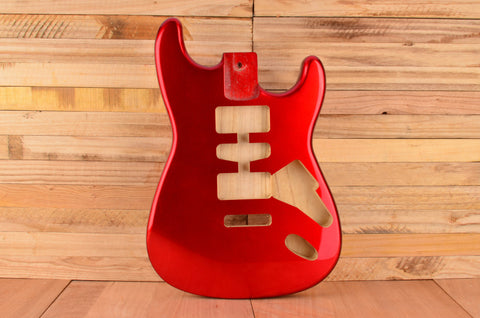 Candy Apple Red Rockaudio Standard Series Paulownia Floating Tremolo Guitar Body