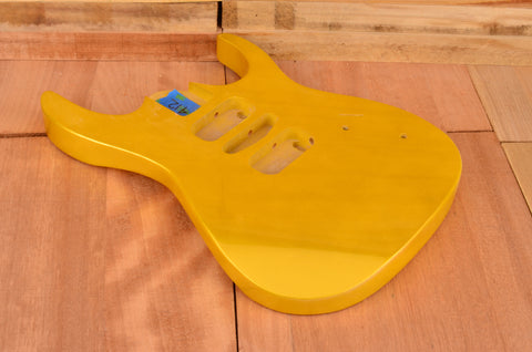 Metallic Gold Basswood Modern Series Hardtail Guitar Body - Clearance