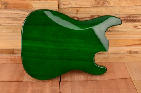 Transparent Green Paulownia Left Handed Standard Series Guitar Body - Clearance