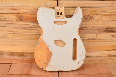 LTD Edition Heavy Relic Olympic White Swamp Ash Vintage Series Guitar Body #0004