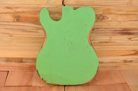 LTD Edition Heavy Relic Surf Green Swamp Ash Vintage Series F-Hole Guitar Body #0001