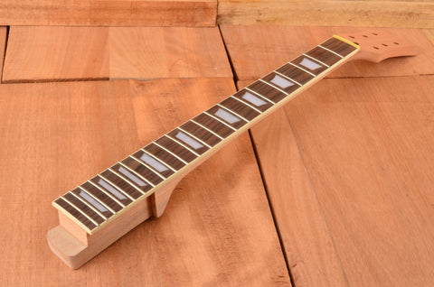Unfinished Spalted Top Mahogany Classic Series Neck & Body Guitar Kit - Clearance