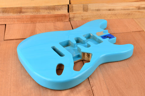 Daphne Blue Paulownia Standard Series Guitar Body - Clearance