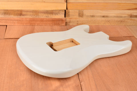 Olympic White Machine Damaged Luthier Special Guitar Body - Clearance