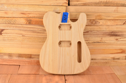 Unfinished Paulownia Dual Humbucker Vintage Series Guitar Body - Clearance