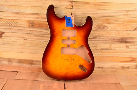 Quilted Sunburst Mahogany Standard Series Guitar Body - Clearance