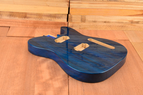 Transparent Blue Paulownia Dual Humbucker Vintage Series Guitar Body - Clearance