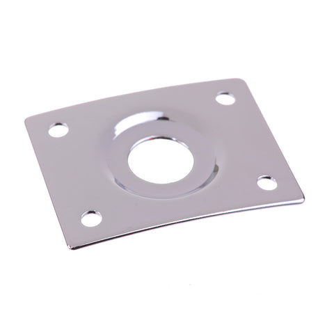 Chrome Square Output Jack Plate For Guitar