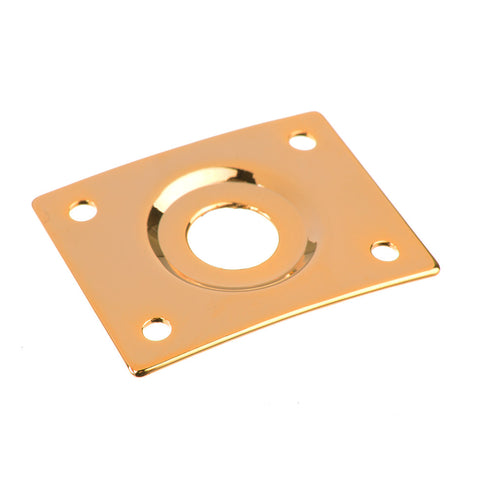 Gold Square Output Jack Plate For Guitar
