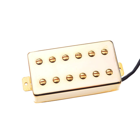 Artec 12 Pole Humbucker Electric Guitar Pickup Vintage Hot Gold Neck Position