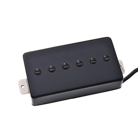 Artec P90 Humbucker Electric Guitar Pickup - Vintage Voiced Alnico V Black Bridge