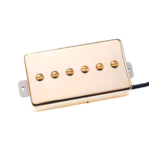Artec P90 Humbucker Electric Guitar Pickup - Vintage Voiced Alnico V Gold Neck