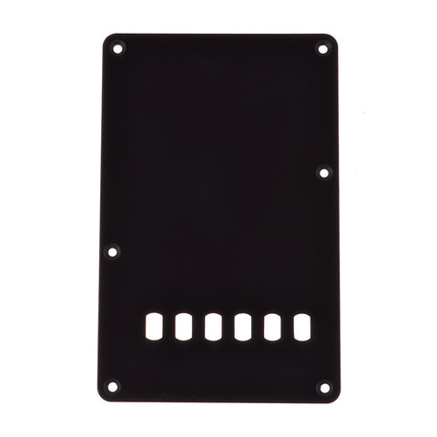 Guitar Tremolo Cover Single Ply Black Slotted