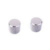Chrome Knurled Round Top Guitar Knobs