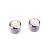 Chrome White Pearl Top Guitar Knobs