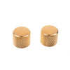 Gold Knurled Round Top Guitar Knobs