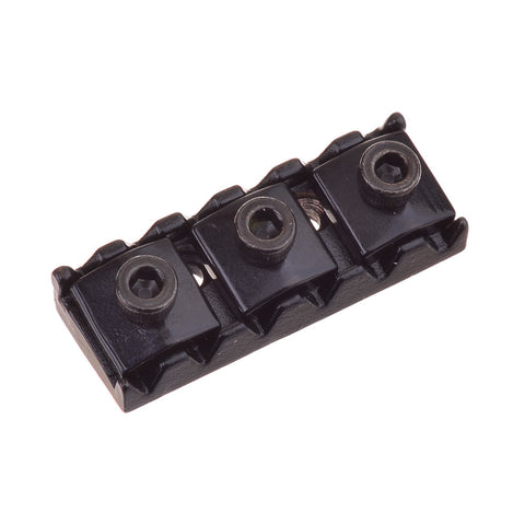 Black Locking Nut Assembly for Six String Guitar With Tremolo System ( 43mm )