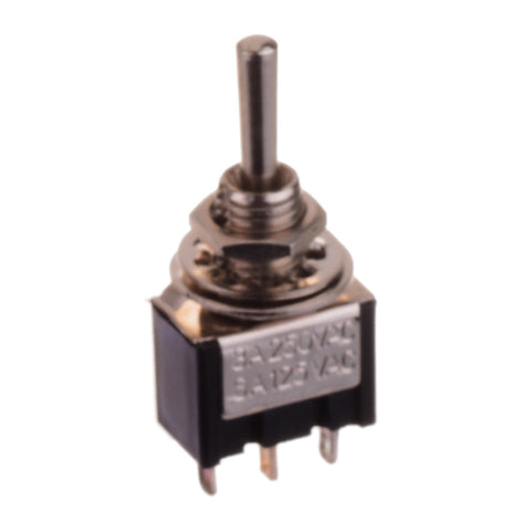 Three Pole Mini Toggle Switch (ON-OFF-ON)