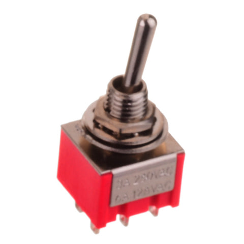 Six Pole DPDT Mini Toggle Switch (ON-OFF-ON)