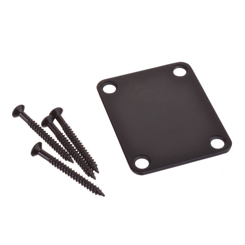 Black Guitar Neck Joint Plate With Screws