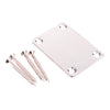 Chrome Guitar Neck Joint Plate With Screws