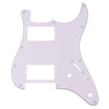 Standard Series Three Ply Guitar Pickguard White HH