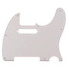 Telecaster Three Ply Aged White Guitar Pickguard With Pickup Mount Holes