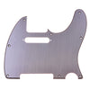 Telecaster Brushed Aluminum Guitar Pickguard With Pickup Mount Holes