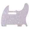 Telecaster Three Ply White Pearl Guitar Pickguard