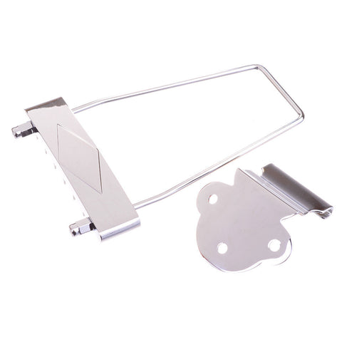 Chrome Tailpiece for Archtop Electric Guitars - Hardware Part