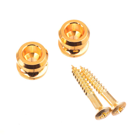 Gold Guitar Strap Lock Guitar Strap Buttons With Screws