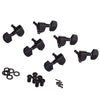 Black 3x3 Grover Style Guitar Tuning Machines