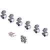 Chrome Six Inline Trapezoid Style Guitar Tuning Machines
