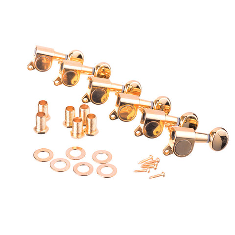 Gold Inline Gotoh Style Guitar Tuning Machines