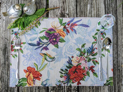 "Placemat - DaDa Bedding Tropical Paradise Birds Floral Placemats, Set of 4 Tapestry 13"" x 19"" (18116) - DaDa Bedding Collection"