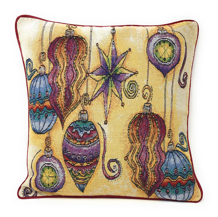 "DaDa Bedding Set of 4 Pieces - Autumn Harvest Halloween & Christmas Ornaments Holiday Tapestry Throw Pillow Covers Bundle Pack - 16"" x 16"""