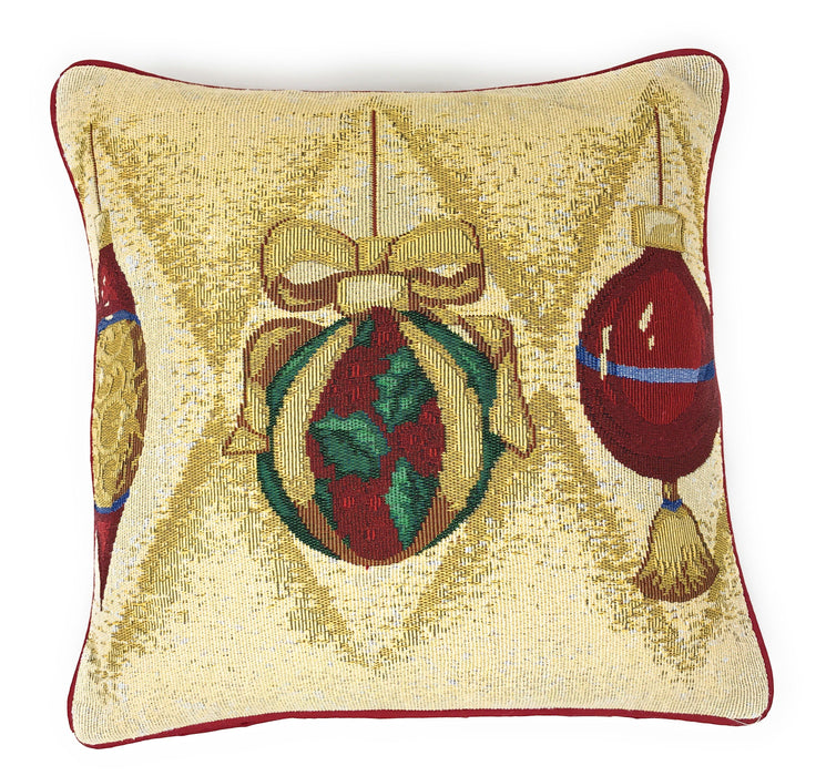 "DaDa Bedding Set of 4 Pieces - Elegant Christmas Holiday Tapestry Throw Pillow Covers Bundle Pack - 16"" x 16"""
