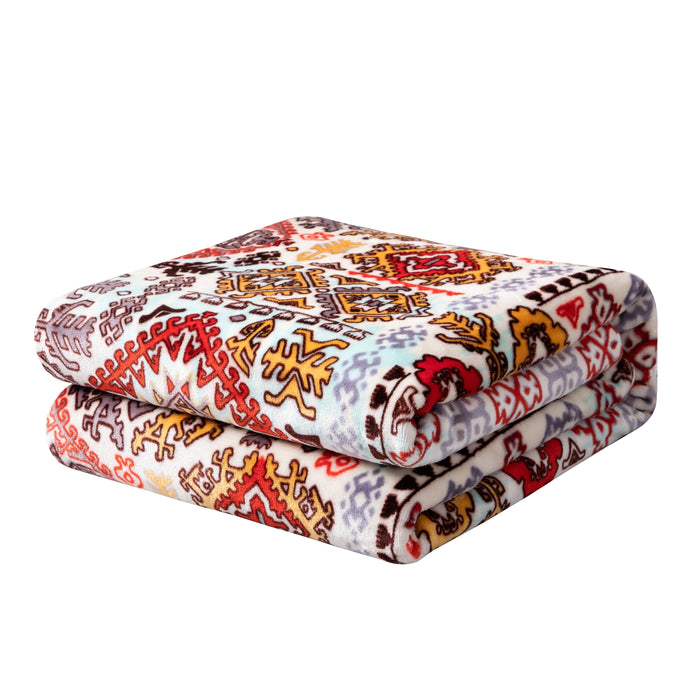 BLANKET - DaDa Bedding Soft Plush Fleece Throw Blanket, Southwestern Havana Geometric (XY1012) - DaDa Bedding Collection