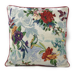 "CUSHION COVER - DaDa Bedding Elegant Tropical Paradise Birds Floral Tapestry Throw Pillow Covers 16"" (18116) - DaDa Bedding Collection"