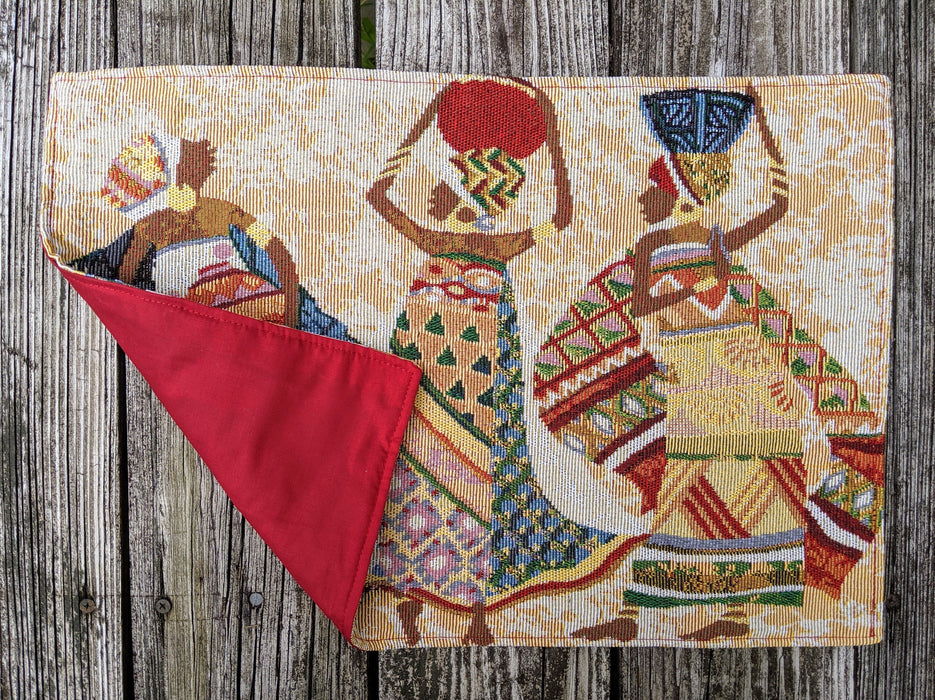 "Placemat - DaDa Bedding Dancing Women African Dreams Placemats, Set of 4 Tapestry 13"" x 19"" (18117) - DaDa Bedding Collection"