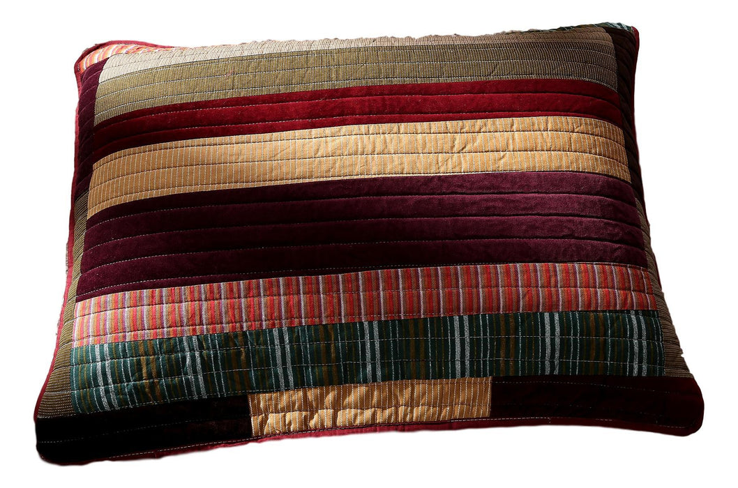 "DaDa Bedding Classical Desert Sands Striped Velveteen King Size Pillow Sham - 20"" x 36"" (JHW577)"