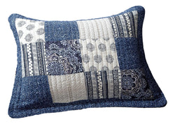 "DaDa Bedding Denim Blue Elegance Standard Size Pillow Sham, 20"" x 26"" (JHW660)"