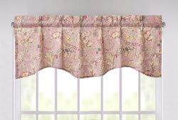 "DaDa Bedding Bohemian Purple Burgundy Floral Paisley Window Curtain Valance - 18"" x 52"" (JHW-868)"