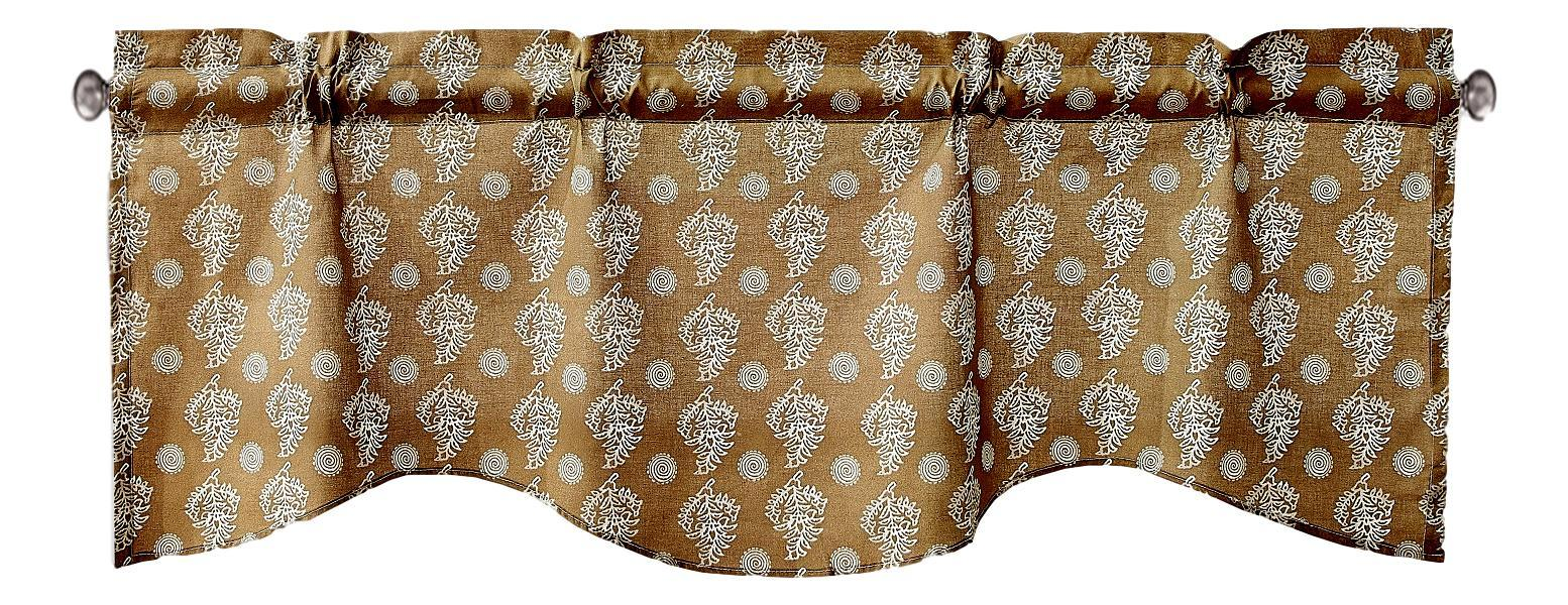 "DaDa Bedding Moroccan Paisley Dreams Floral Window Curtain Valance - 18"" x 52"" (JHW-885)"