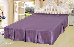 "BEDDING ACCESSORIES - DaDa Bedding Violet Purple Dust Ruffle Pleated Bed Skirt - 14"" Drop - Cal King - (BS-BM8085) - DaDa Bedding Collection"