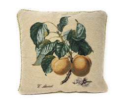 "CUSHION COVER - DaDa Bedding Apricot Fruit Elegant Accent Throw Pillow Cushion Cover - 1-Piece - 18"" - DaDa Bedding Collection"