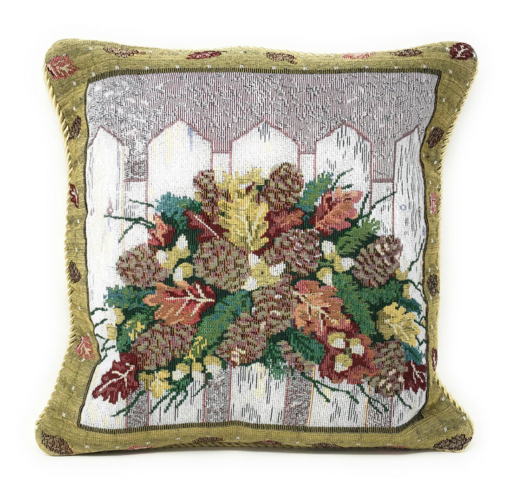 "CUSHION COVER - DaDa Bedding Christmas Fiesta Accent Throw Pillow Cushion Cover - 18"" - 1-Piece - DaDa Bedding Collection"