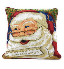 "Cushion Cover - DaDa Bedding Naughty or Nice Santa Clause Throw Pillow Cover Tapestry Cases 16"" x 16"" - DaDa Bedding Collection"