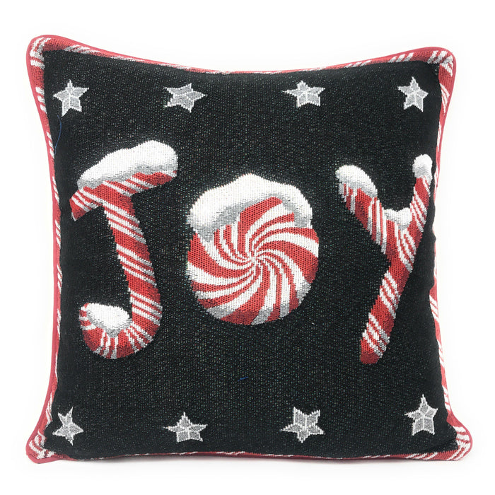 "Cushion Cover - DaDa Bedding Peppermint Joy Stars Throw Pillow Cover Tapestry Cases 16"" x 16"" (12904) - DaDa Bedding Collection"