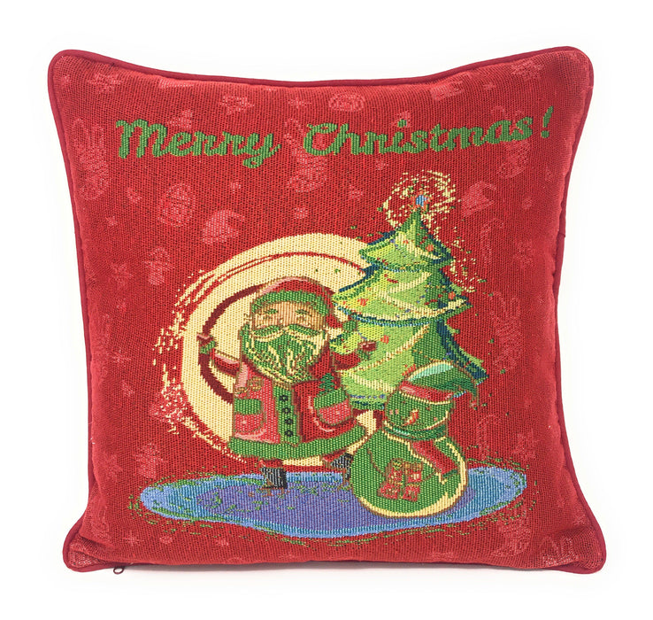 "Cushion Cover - DaDa Bedding Red Santa Claus Throw Pillow Cover Tapestry Cases 16"" x 16"" (17615) - DaDa Bedding Collection"